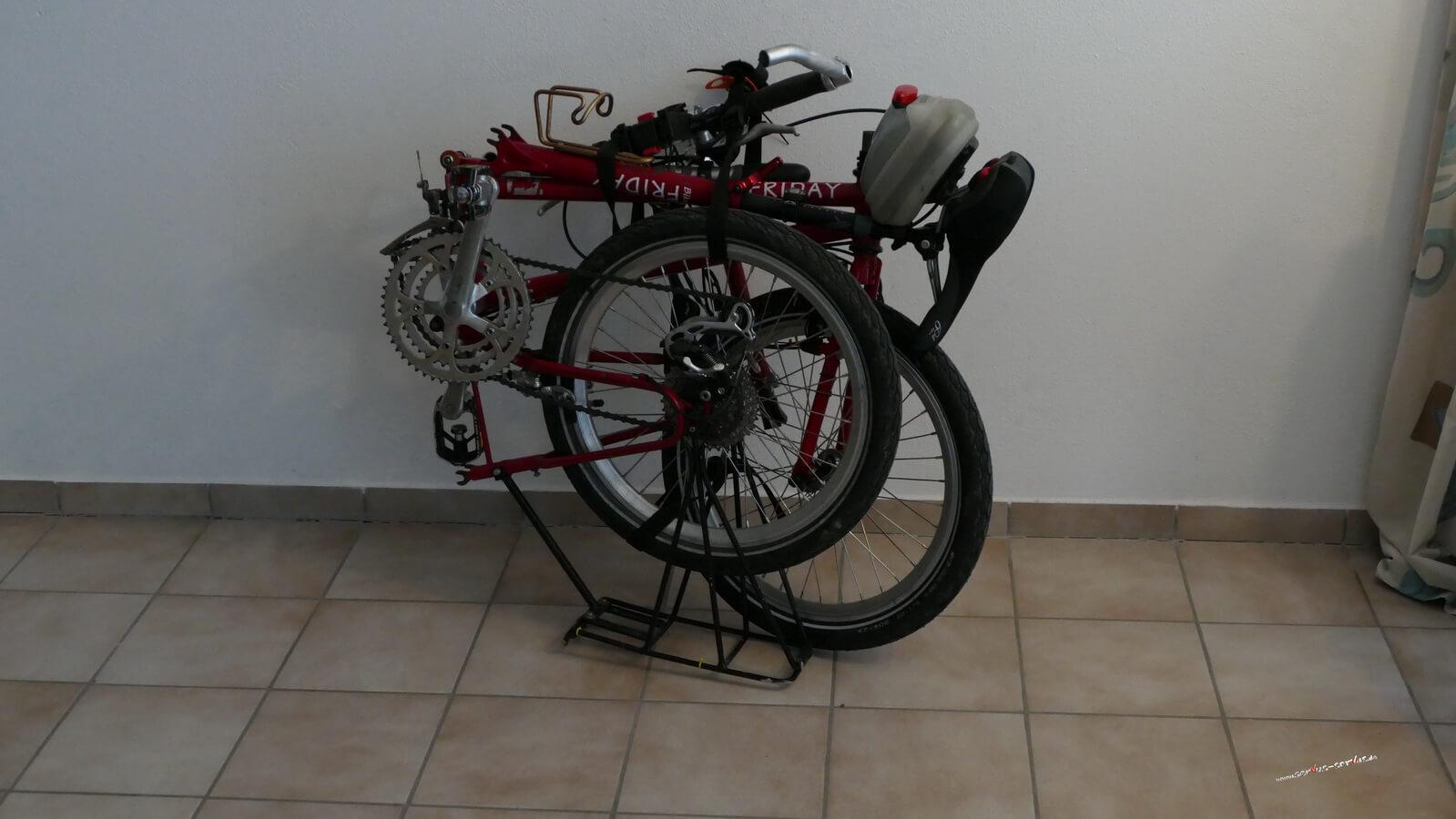 Das Fahrrad gefaltet
