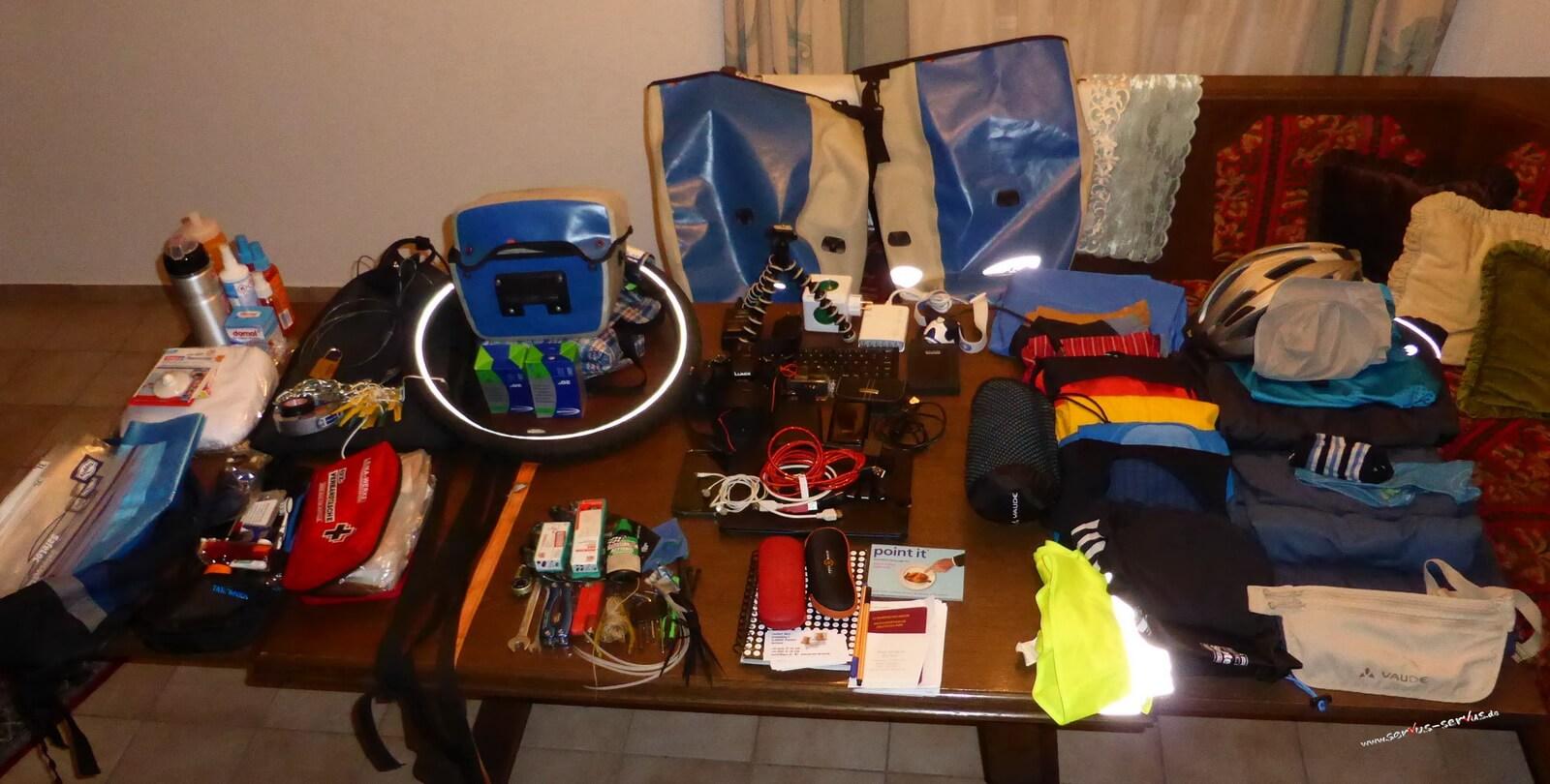 Mein komplettes Gepäck