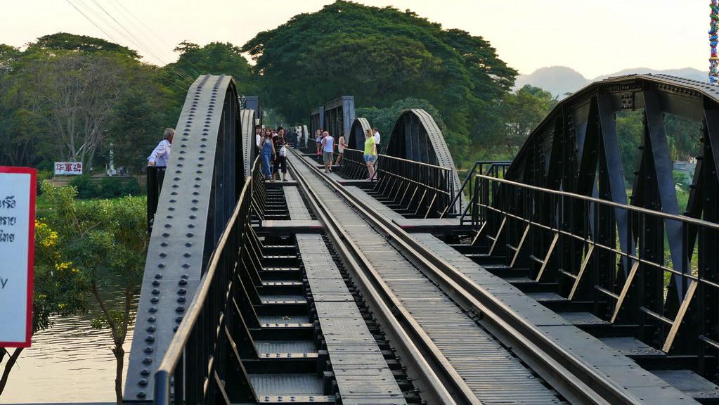 Brücke am Kwai Fußgängerüberweg