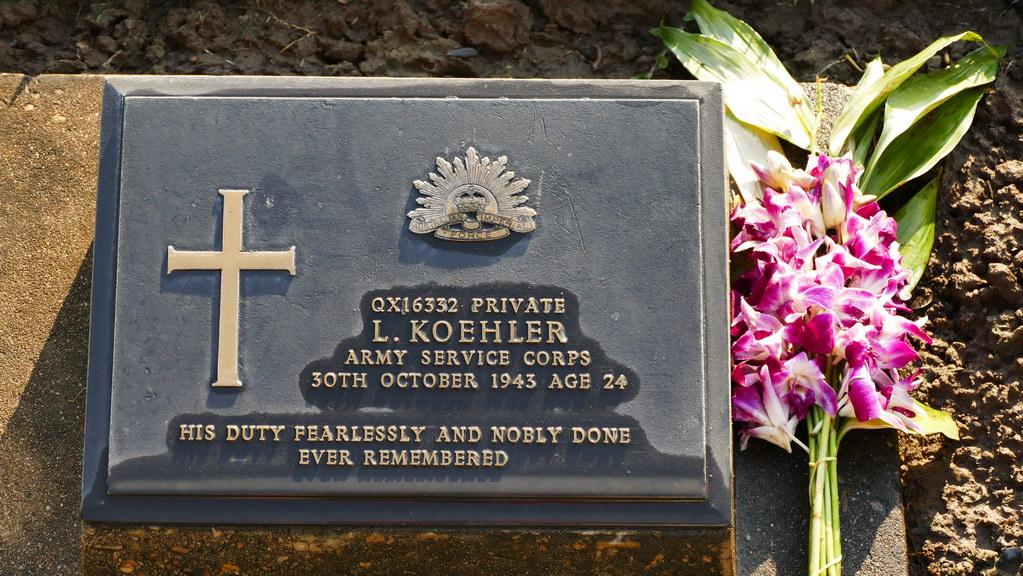Gedenktafel eines gefallenen Soldaten