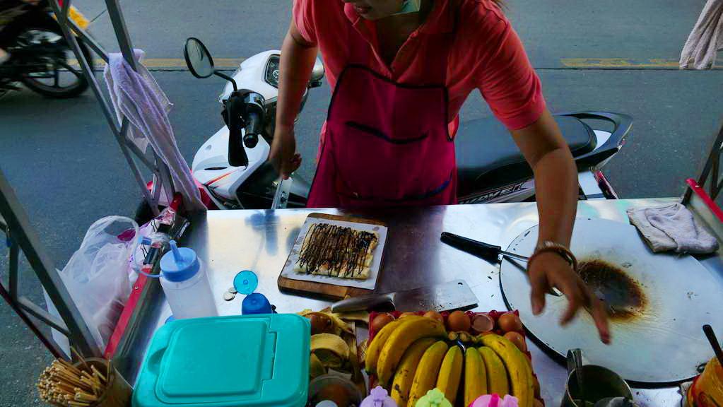 Ein leckerer Banana-Pancake