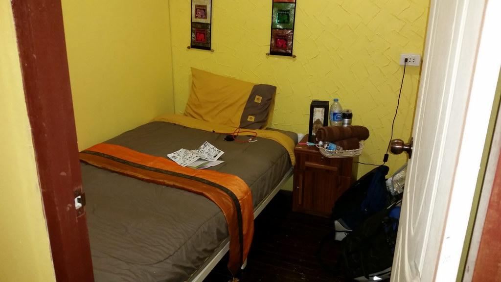 Bett im Motel