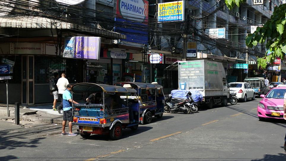 Tuk-Tuk am Straßenrand