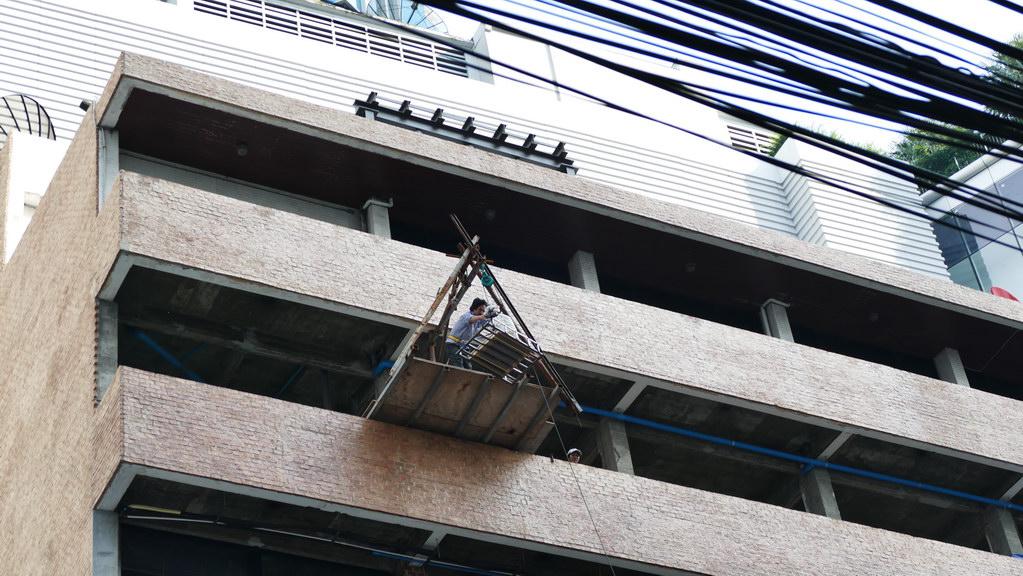 Baustelle in Bangkok