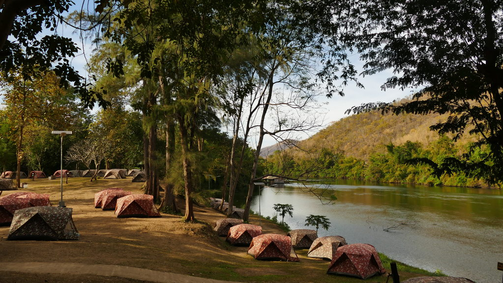 Zeltplatz am River Kwai