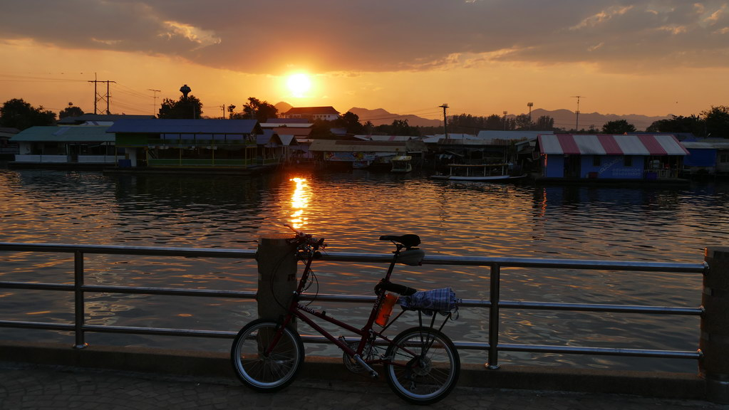 Sonnenuntergang am River Kwai