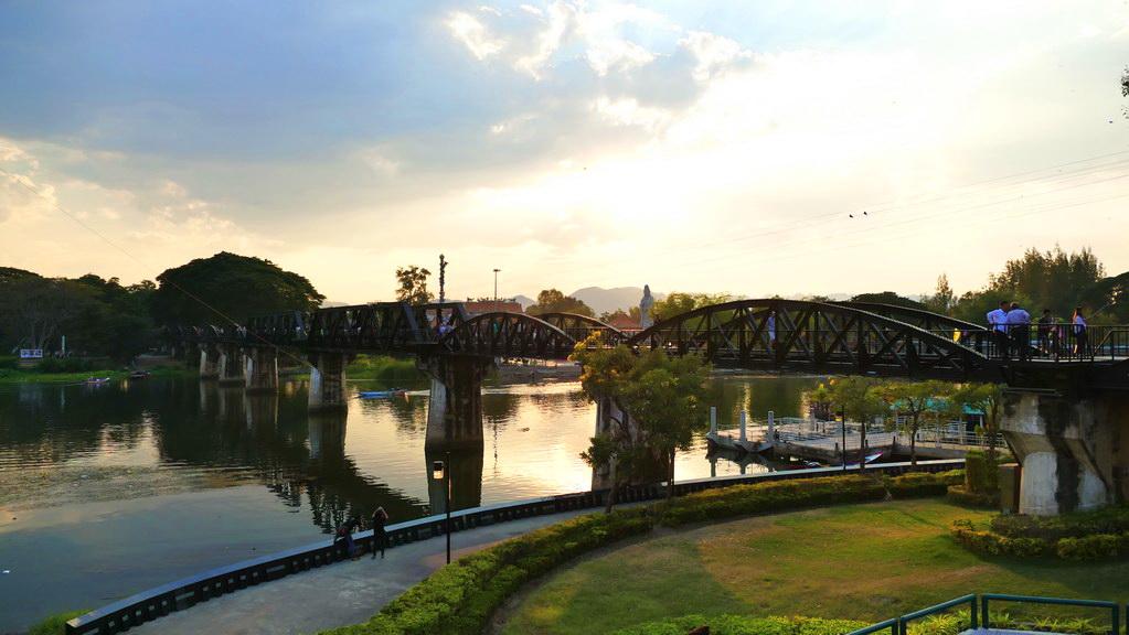 Die Brücke am Kwai in Kanachaburi
