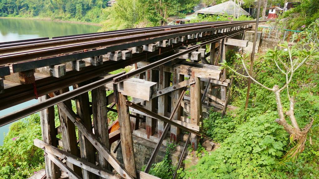 Die Konstruktion der Tham Krasae Railway Bridge