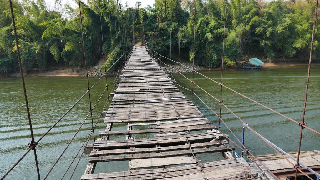 kaputte Brücke am River Kwai