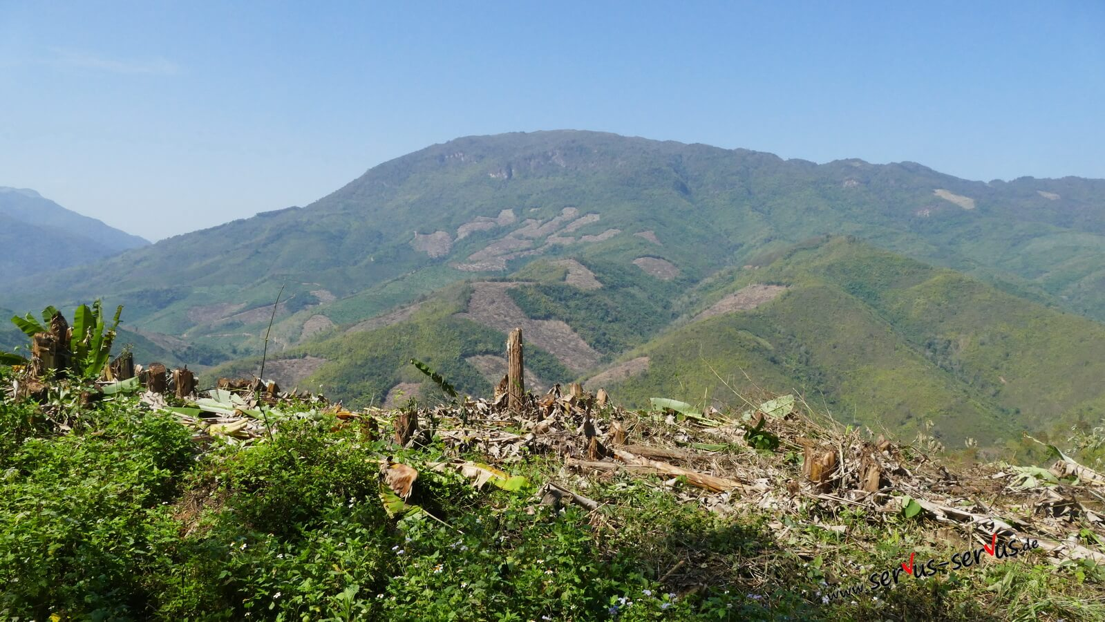 Laos-Berg-Aussicht