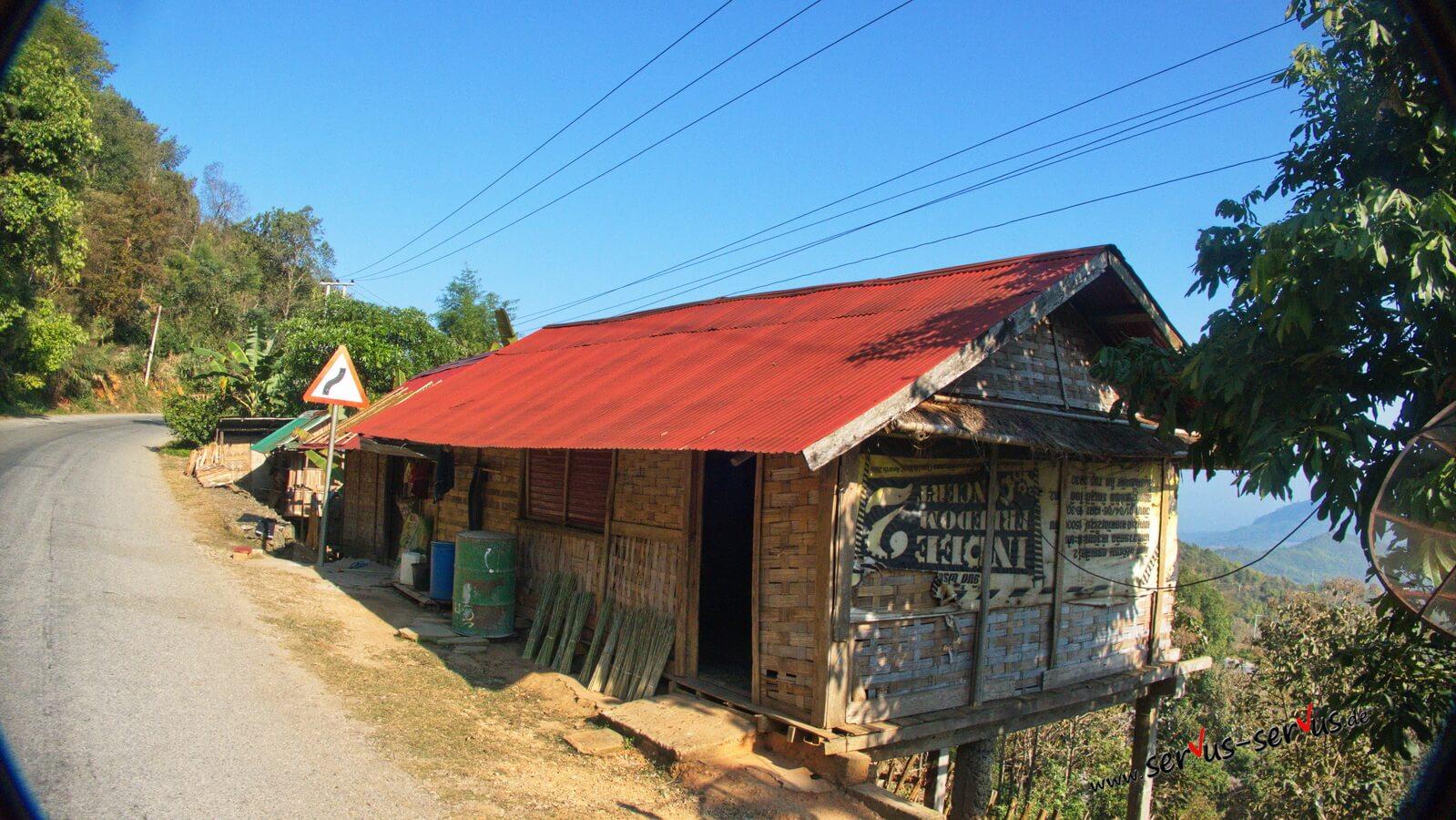 Laos-Bambushüette