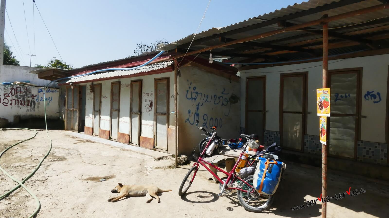 Toilette am Rastplatz in Laos
