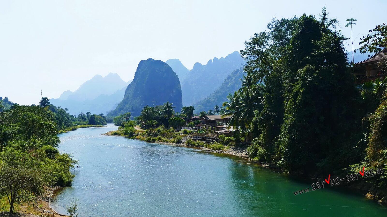 laos berg, fluß