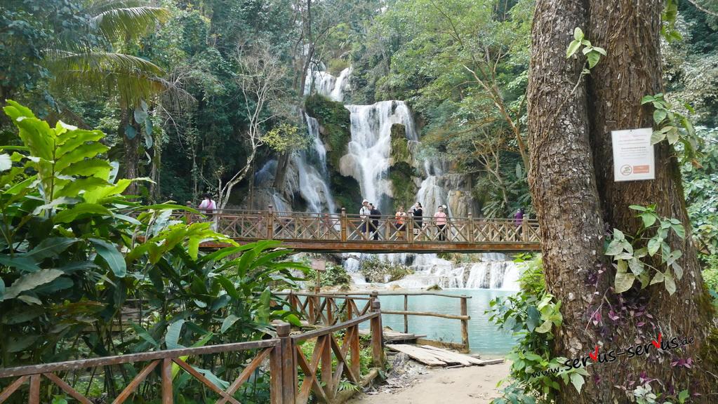 brücke-kuang si -Wasserfall