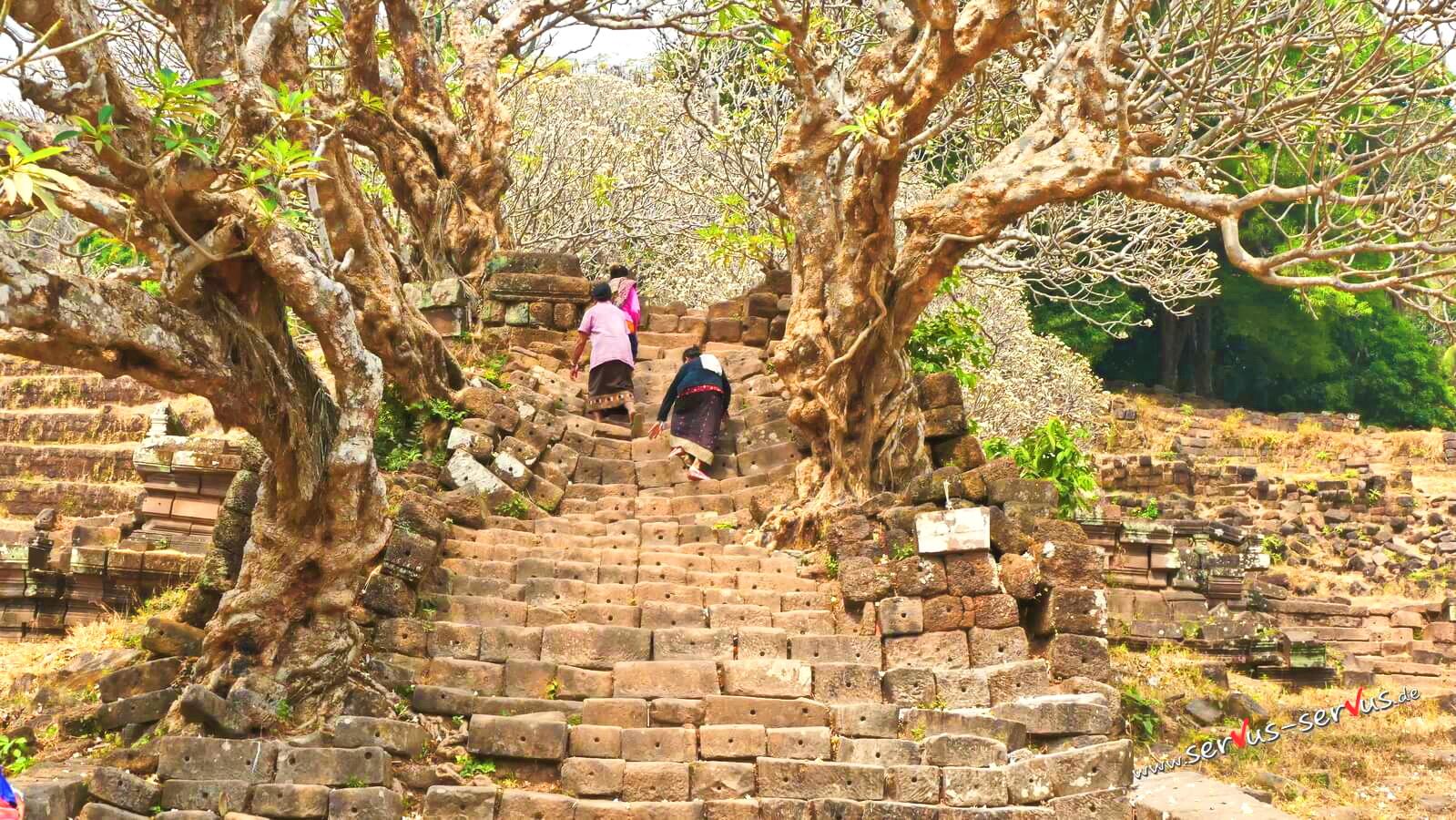 Treppe zum Vat Phou