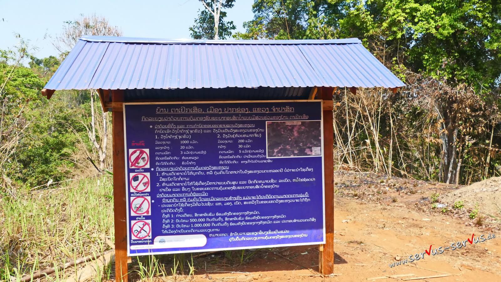 Vietnamkrieg, Laos, Landminen, Bolavenplateau