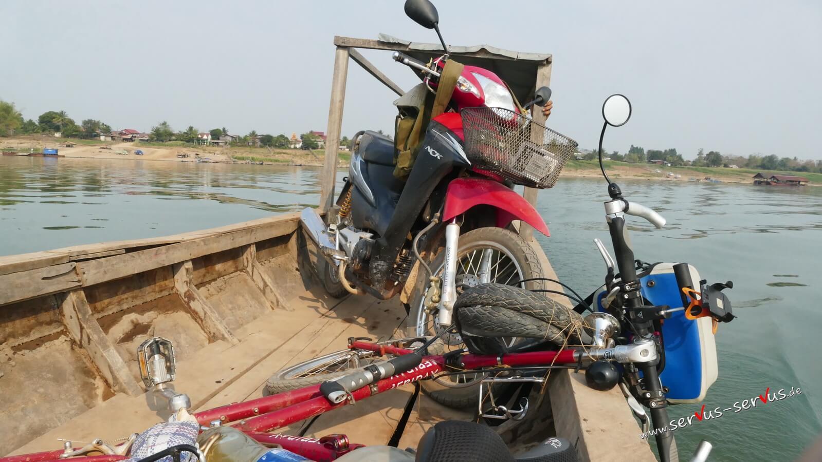 Fahrrad, Boot Moped, Mekong