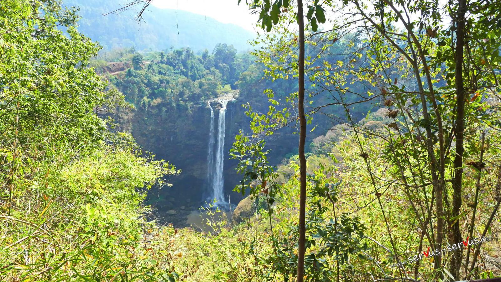 Tad Katamtok, Laos, Wasserfall, Bolavenplateau
