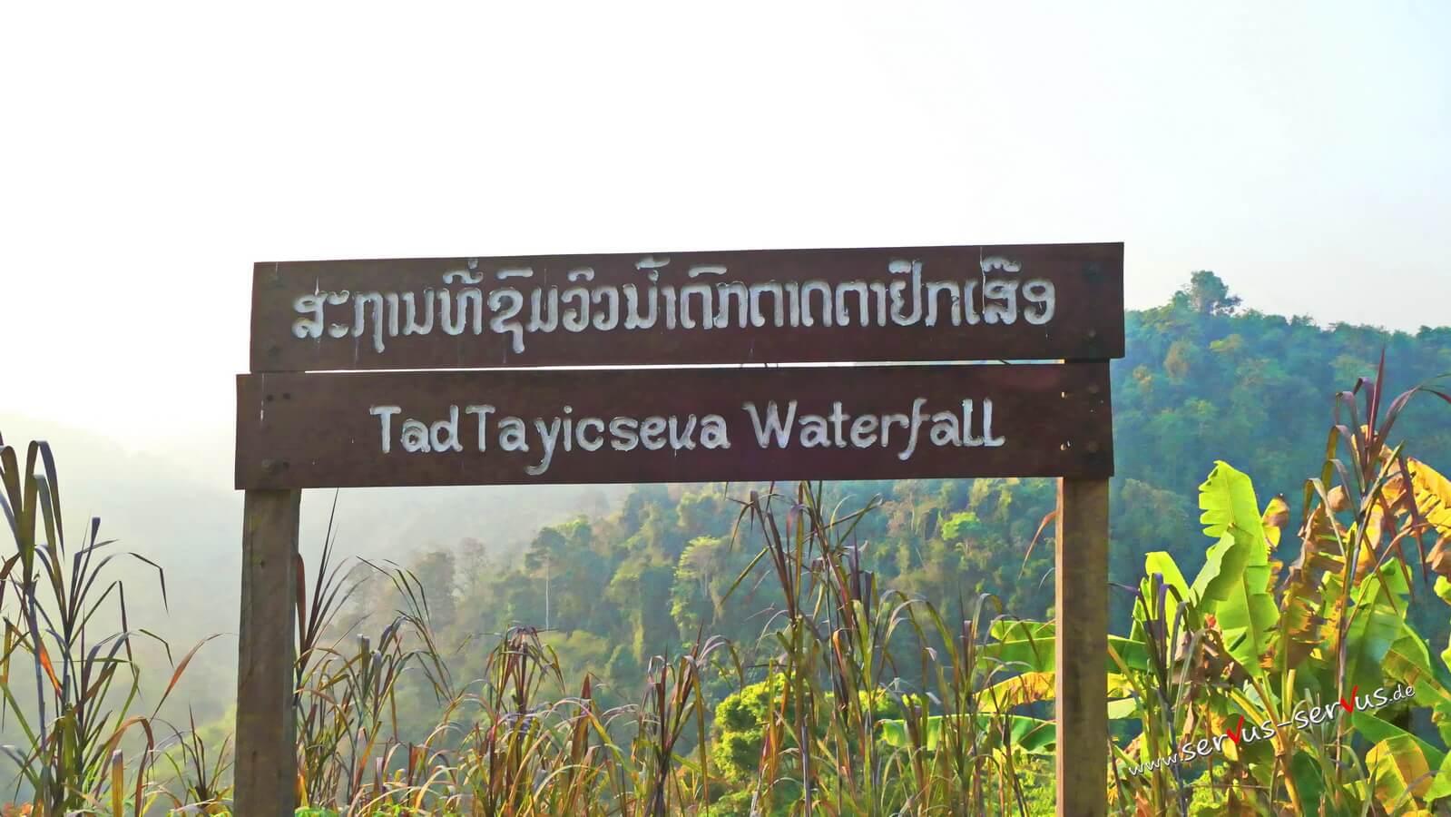 Tad Tayicseua Wasserfall, Laos,Bbolaven