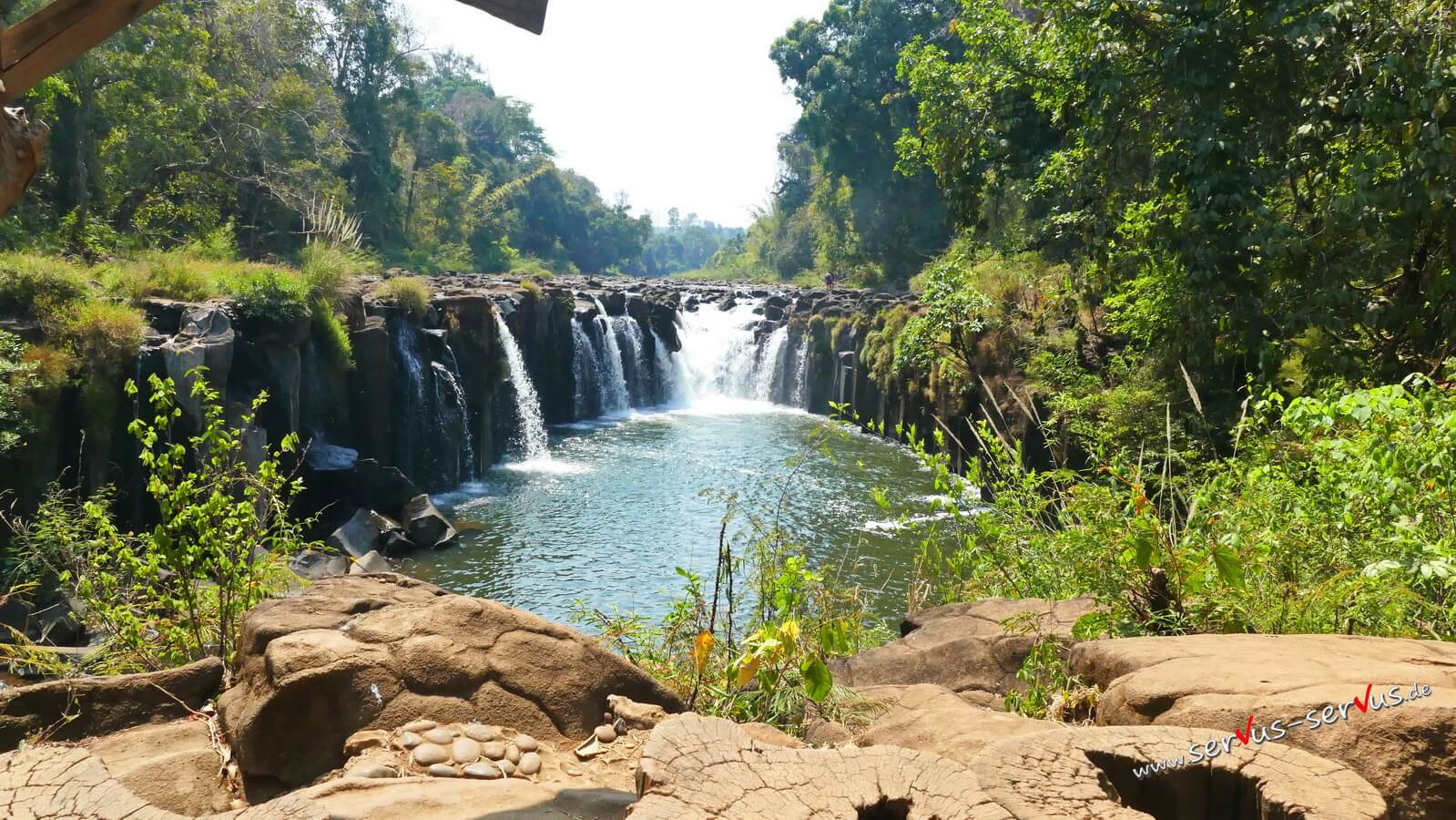 Laos, Bolaven, Tad Pasuam, Wasserfall