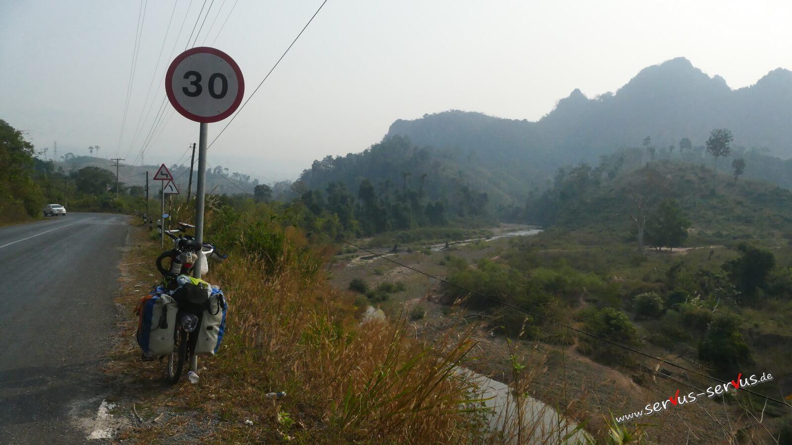 Radlerpause bei Vieng Kham