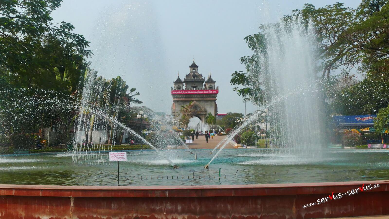Vientiane, Patuxai, Triumpfbogen, laos
