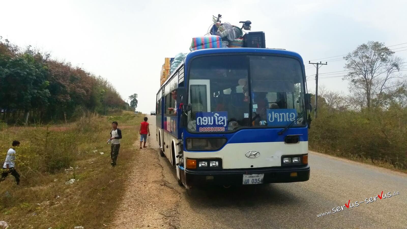 Fahrrad, Bus Pause, Laos