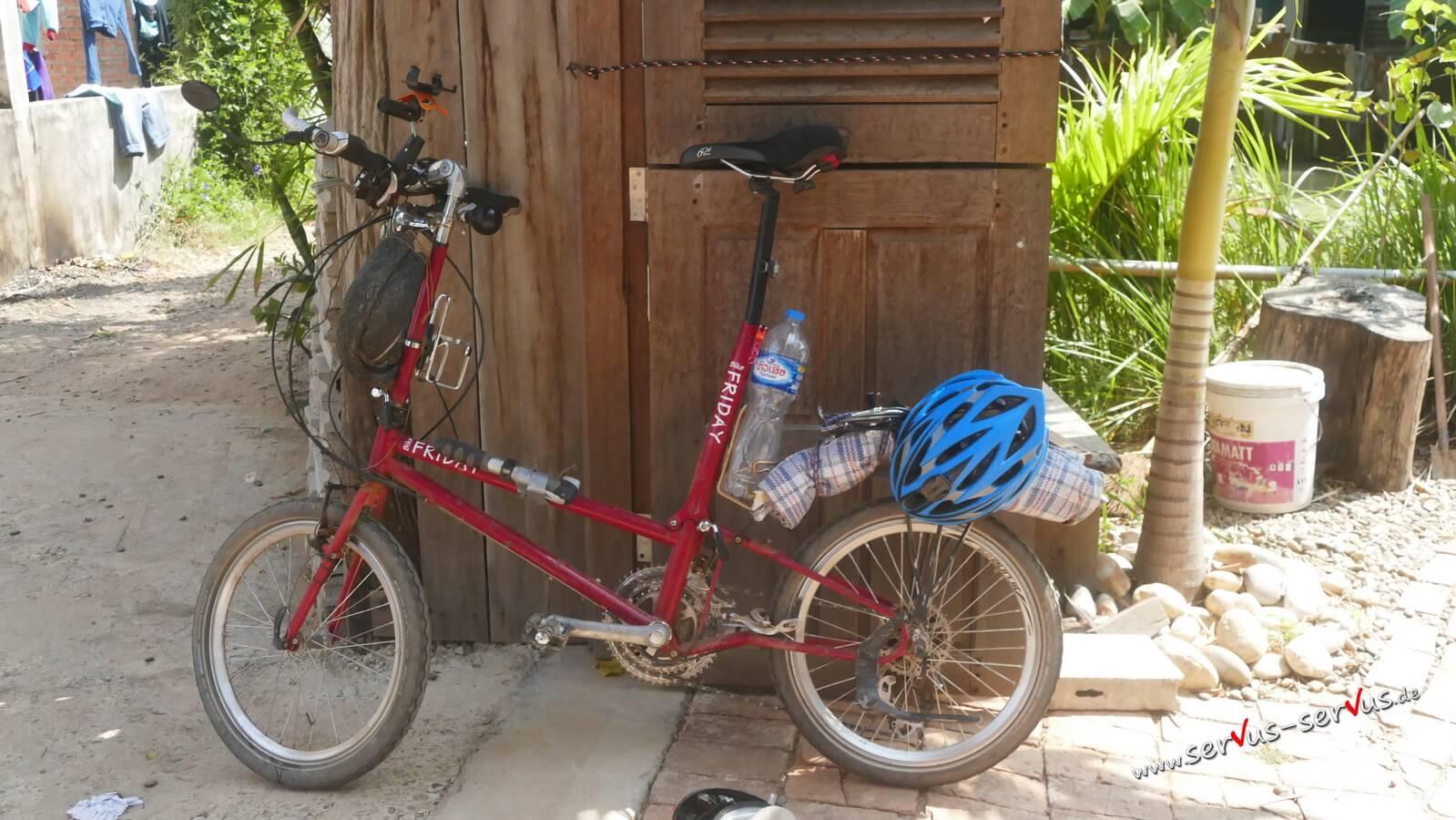 Verbogene Sattelstütze am Fahrrad