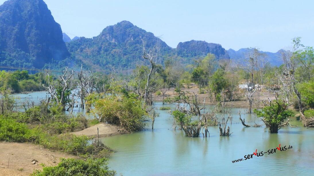 Stausee, Thalet, Laos