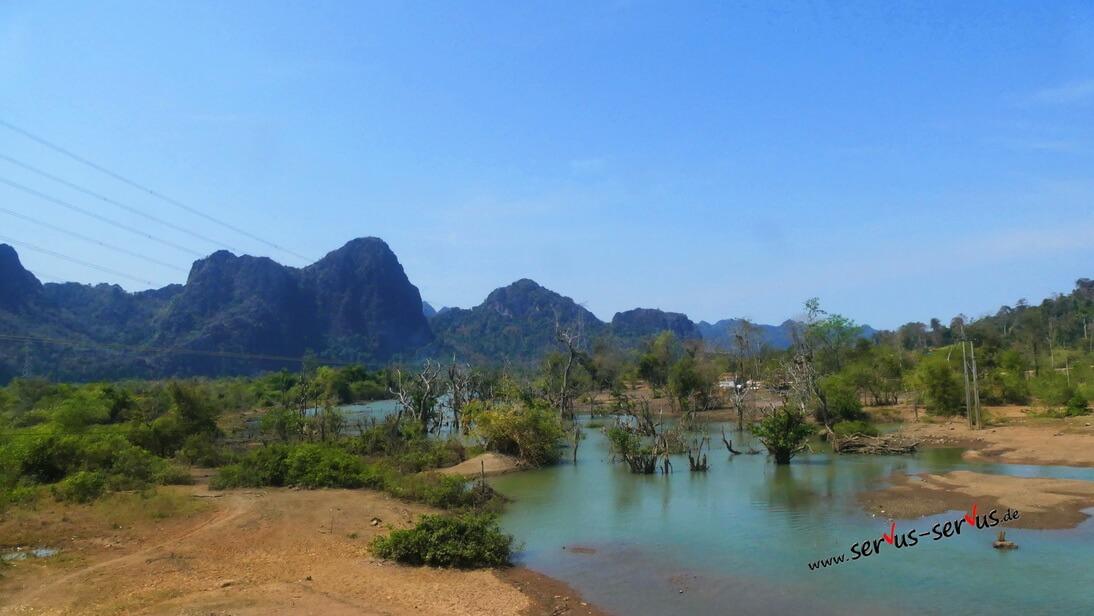 Laos, Thalet, Staussee