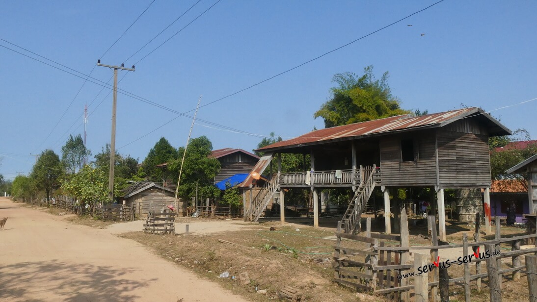 Dorfidylle in Thalet, Laos