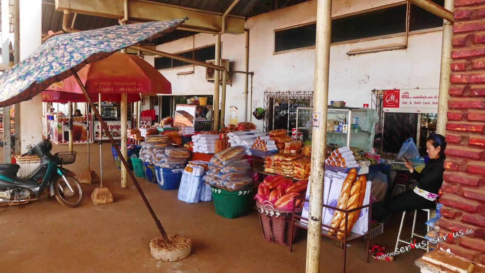Baguette, laos, Markt
