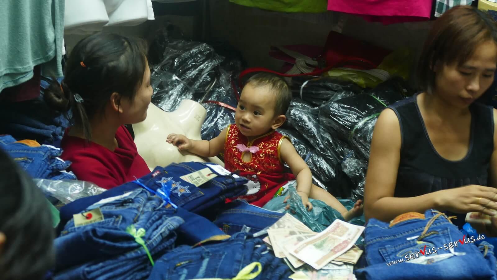 Kind, vientiane Markt