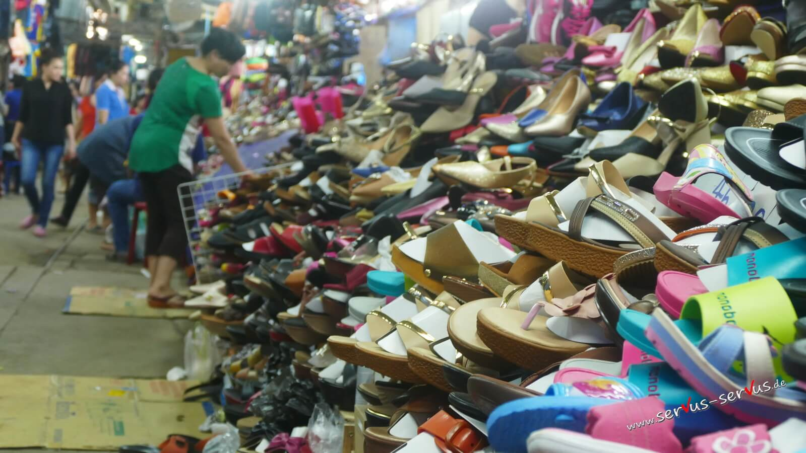 laos, vientiane, markt