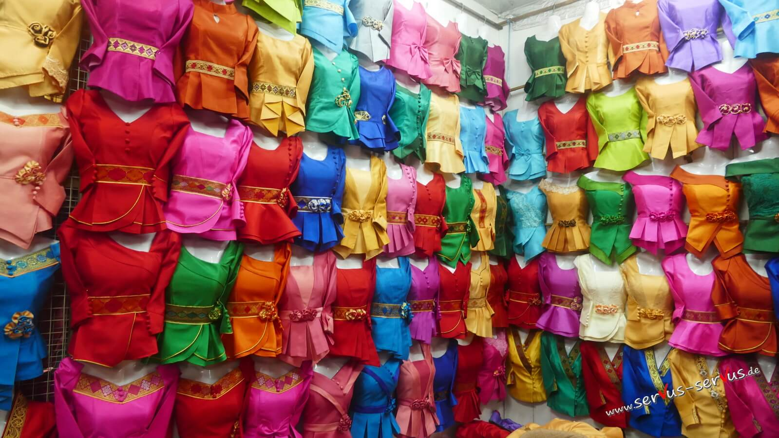 farbenpracht, markt, vientiane
