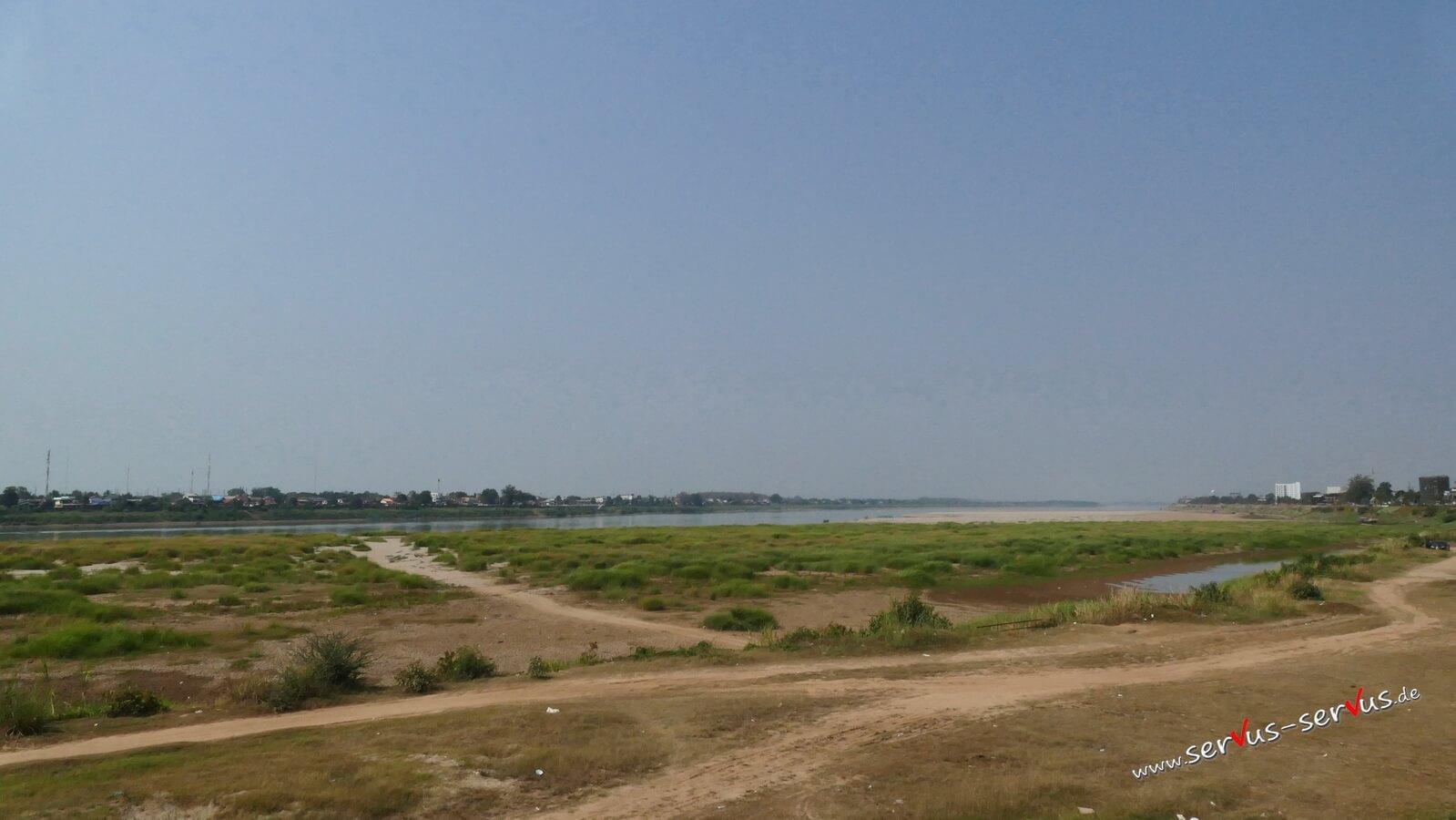 mekong, grenze zu thailand