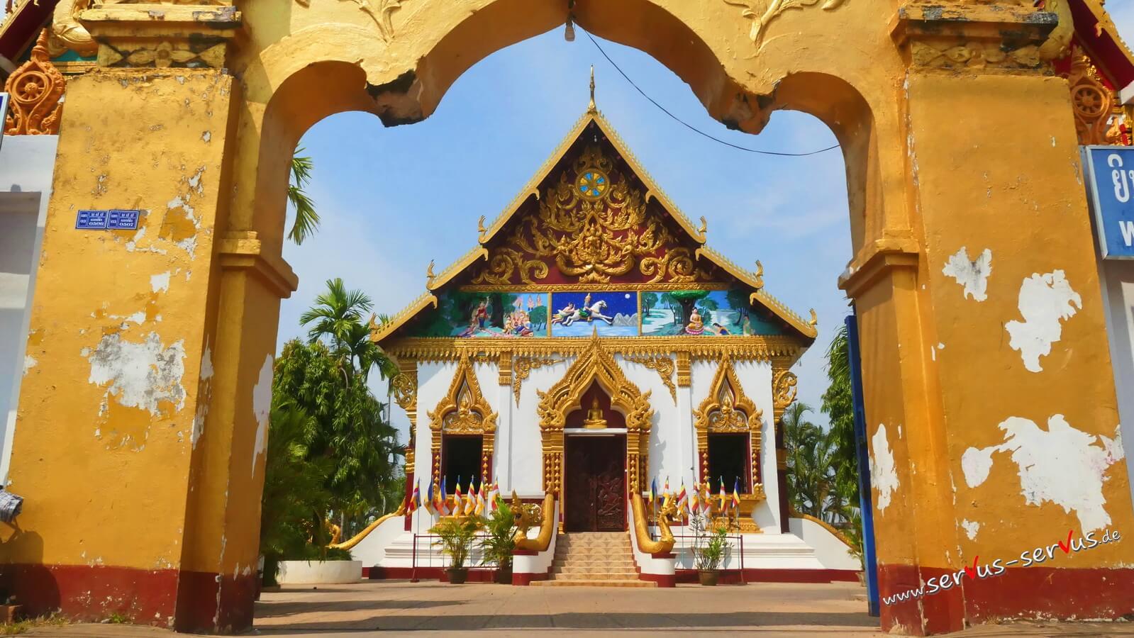 Tempel in Pakse, Laos