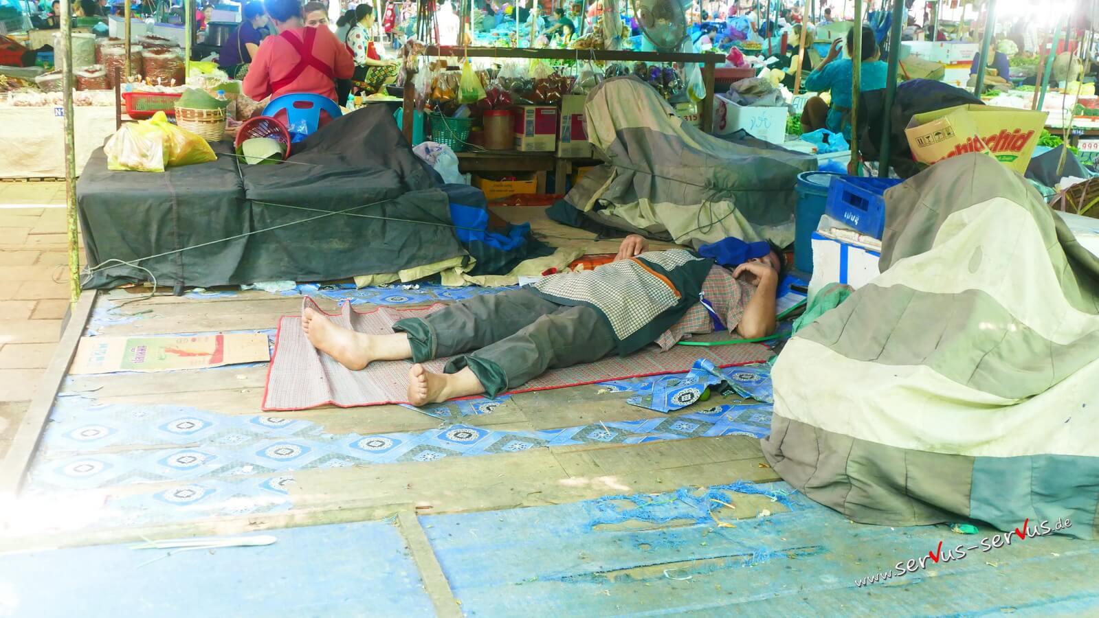 mann, markt, vientiane, laos