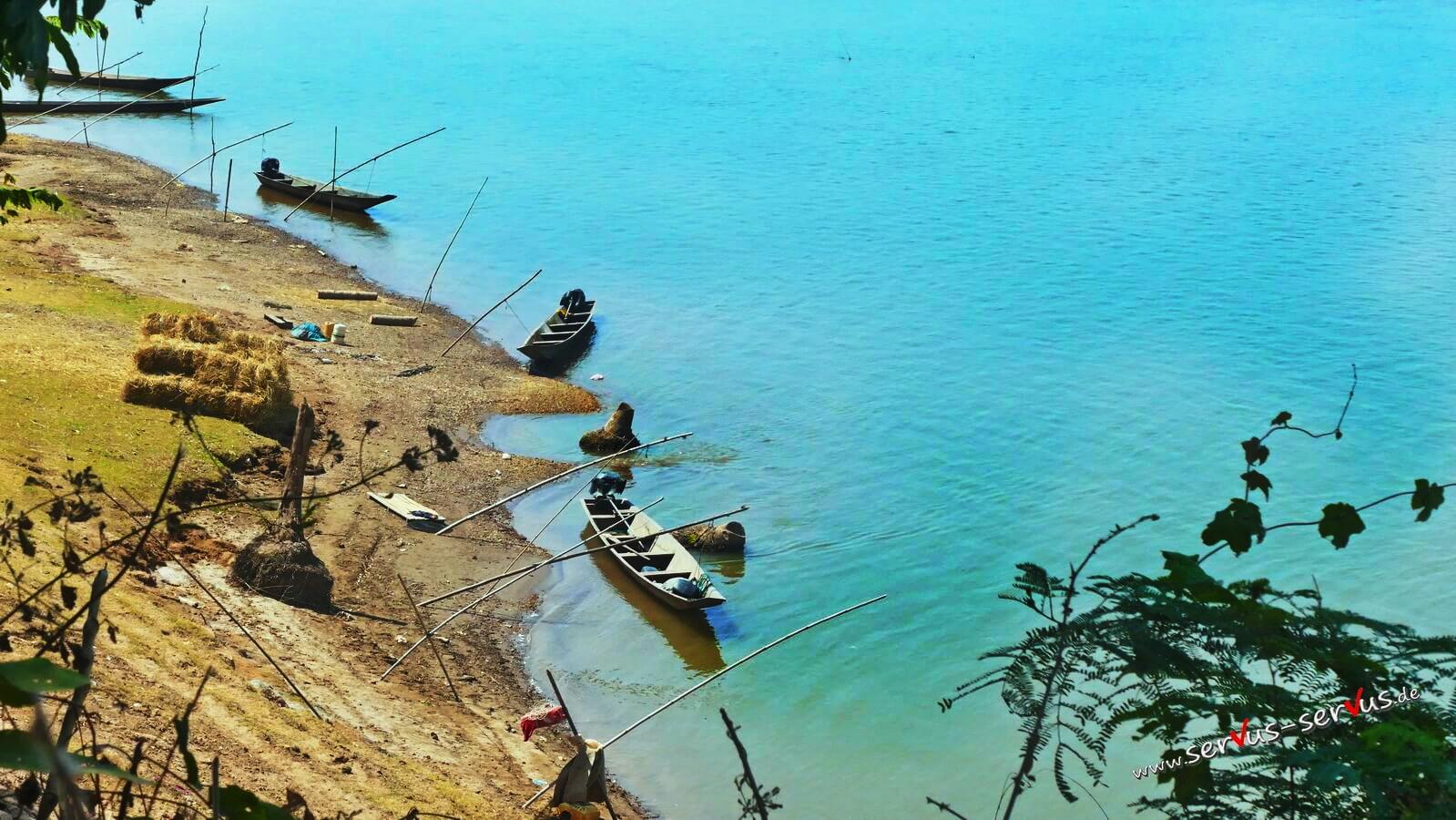 Boote im Mekong
