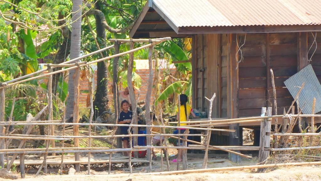 Laos- Menschen am Wegrand