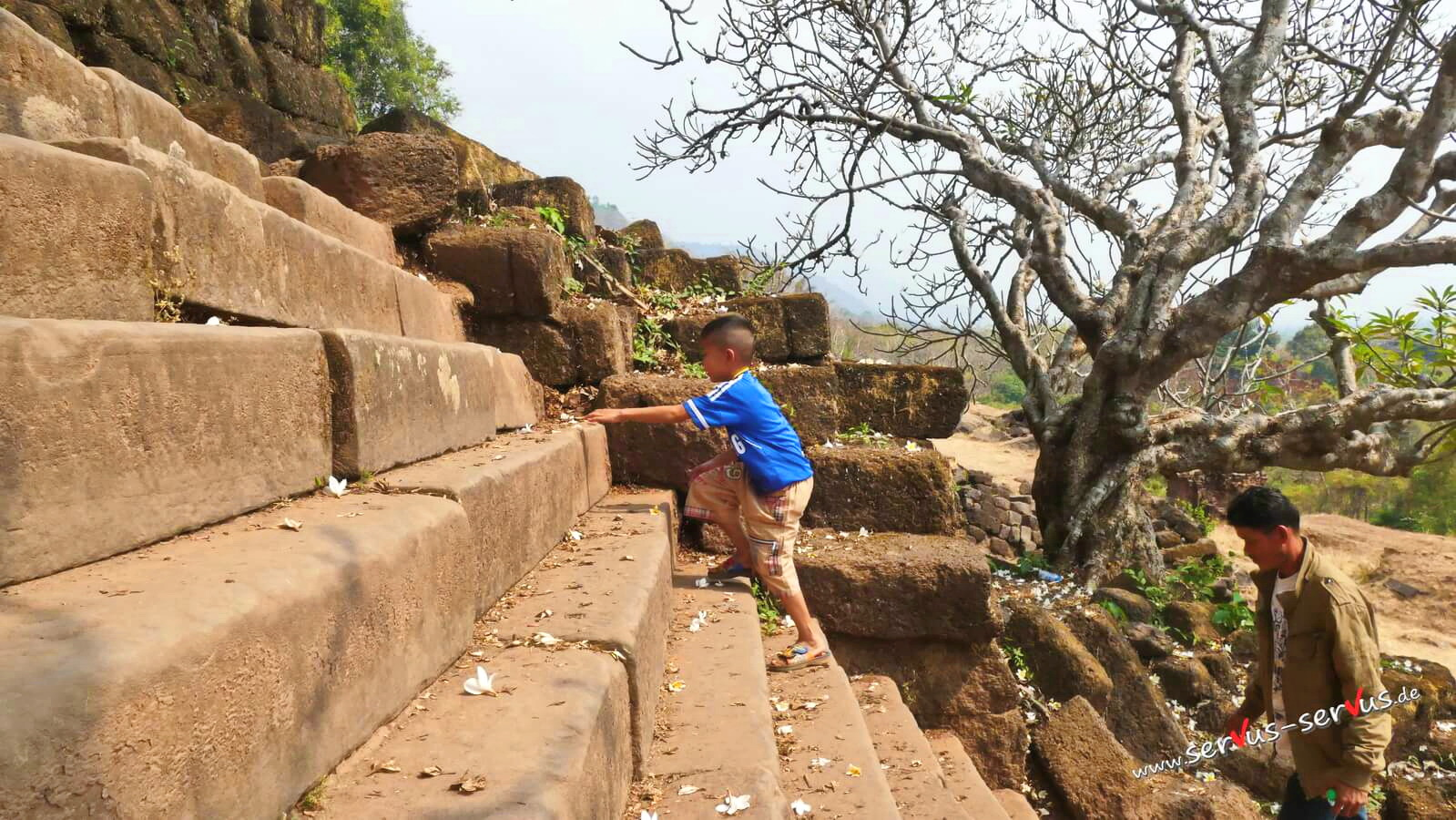 Aufstieg zum Vat Phou, Laos, Champasak