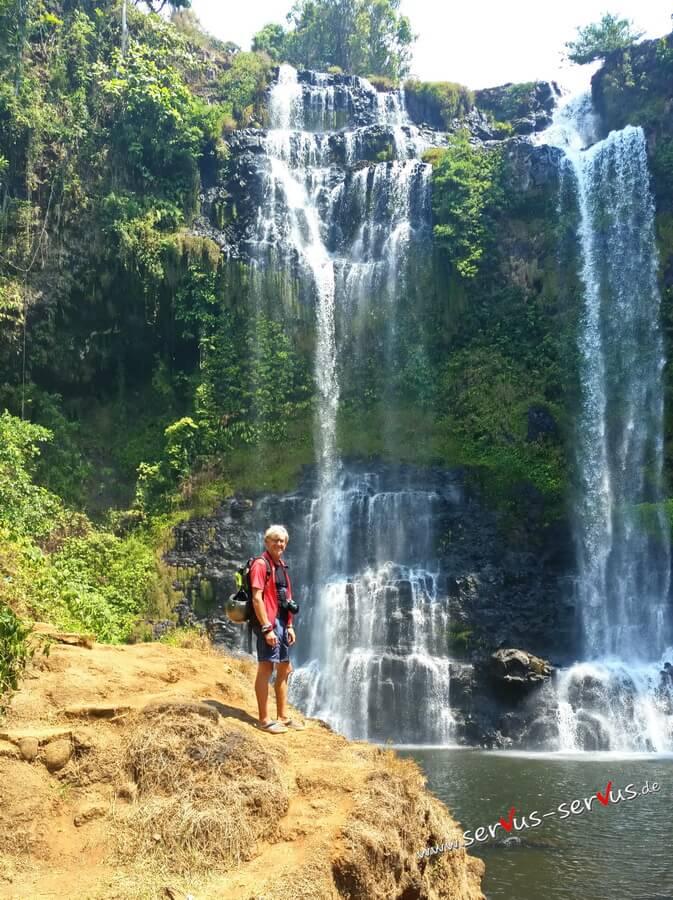 Tad Yuang, Wasserfall, Laos, Bolaven