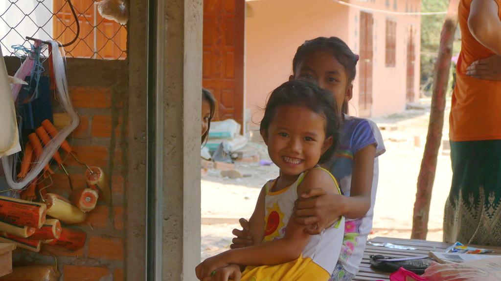 Kinderlachen am Mekong