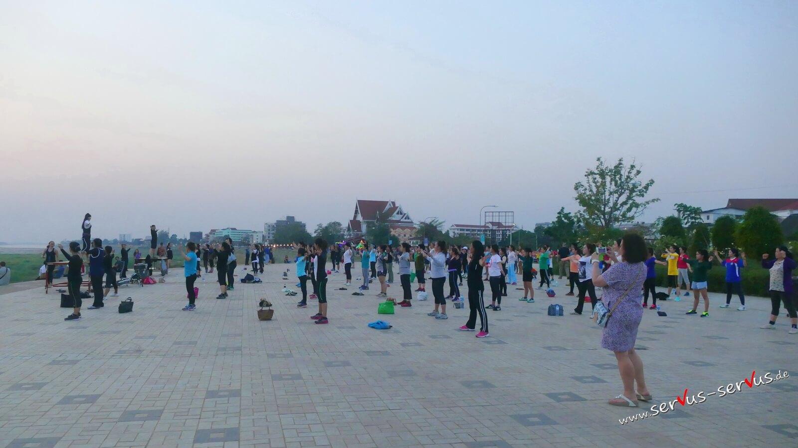vietiane, mekong, Aerobic