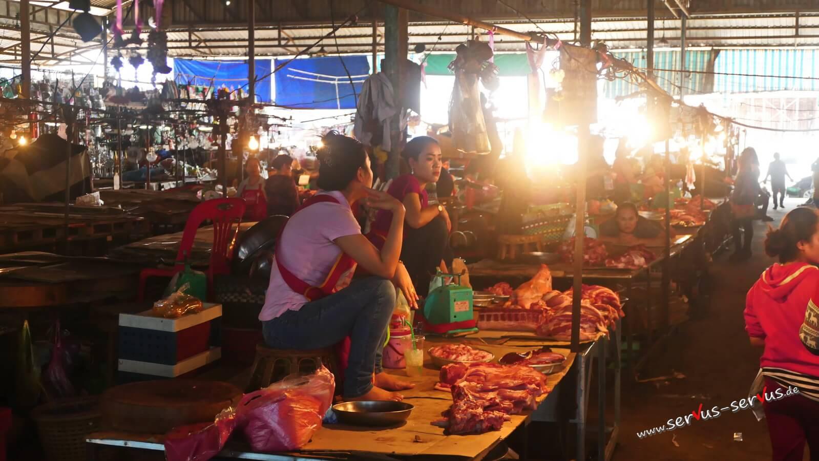 markt, laos, vientiane
