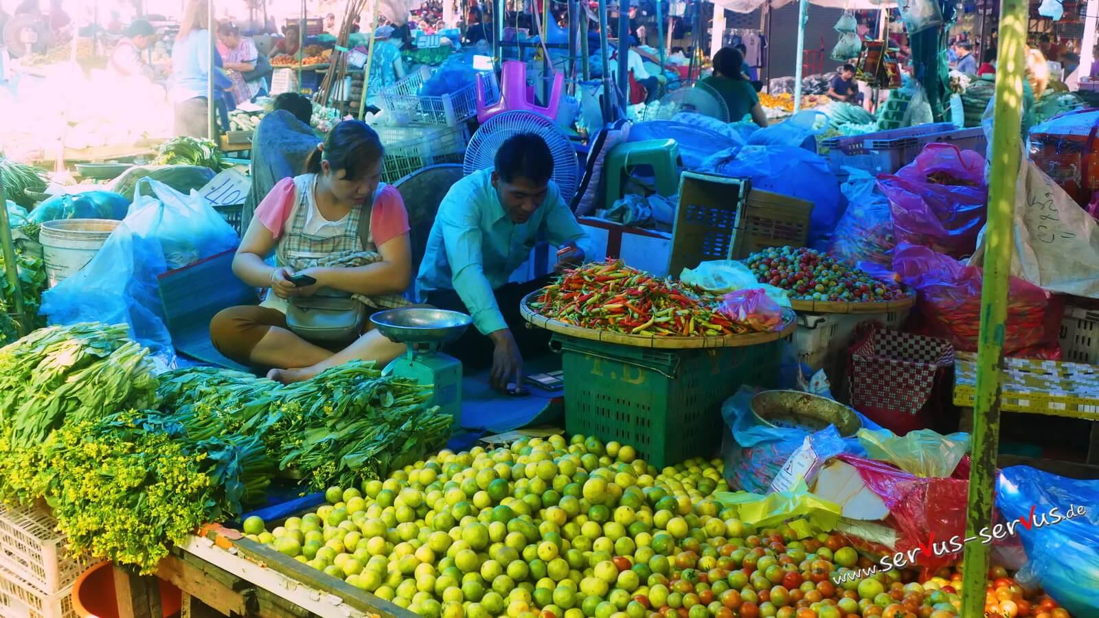 peperoni, Gemüsemarkt, laso, vientiane,