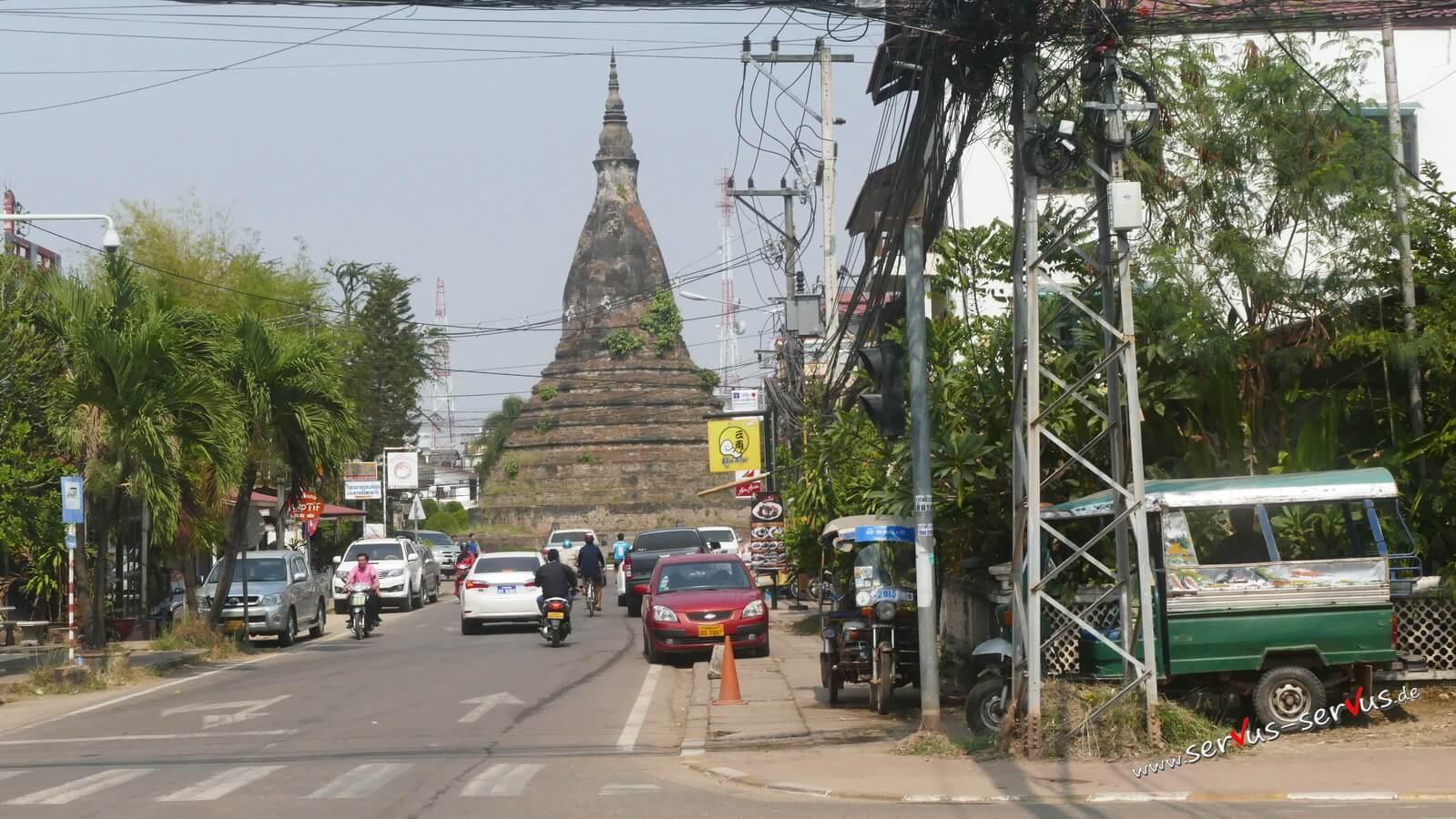 That Dam, Stupa, laos, vientiane