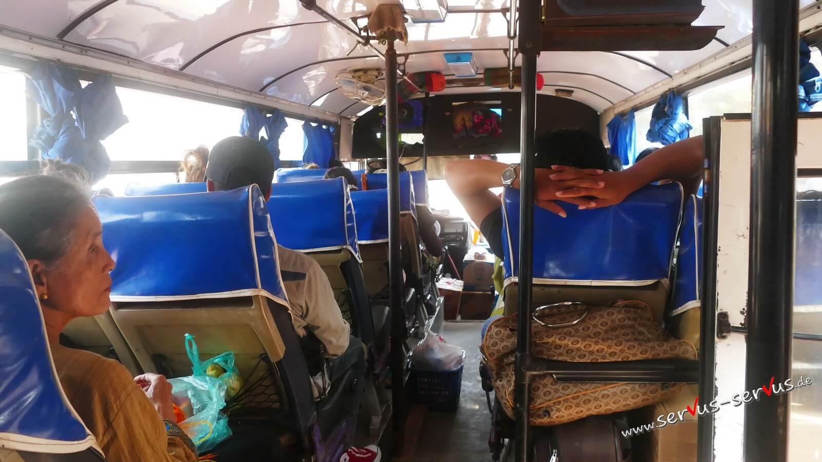 Bus, Dach von innen, abgestützt