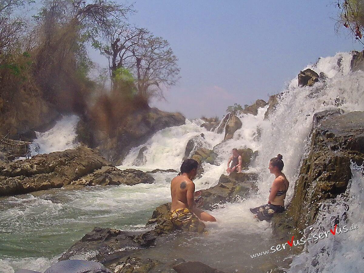 Don Det, Khone Pa Soi, Laos, Wasserfall