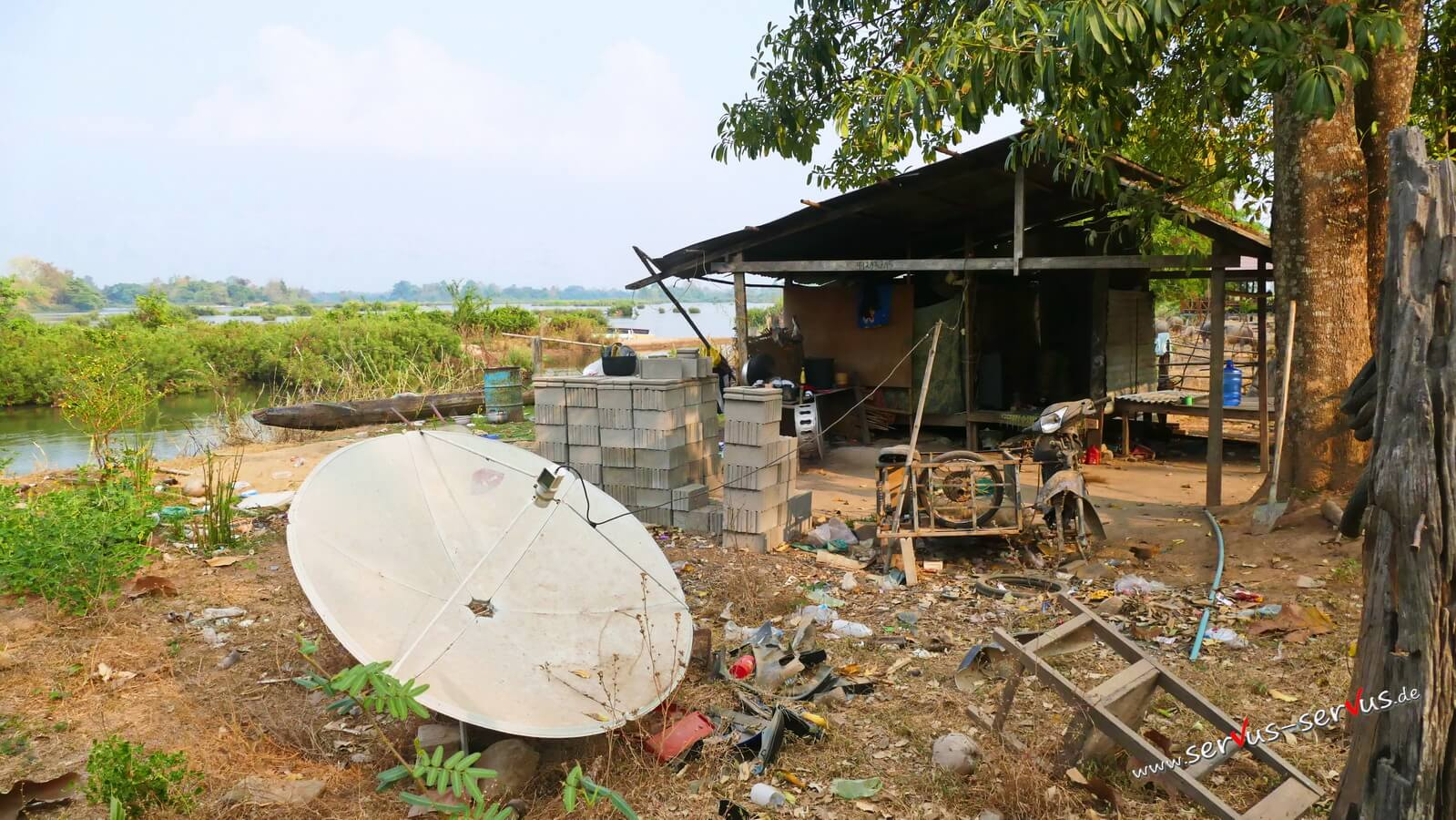 Don Det, 4000 Inseln, Laos, Hütte, Müll
